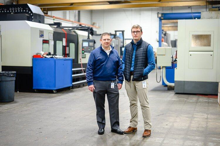Shawn Quinn and Joe Frank at RCO Engineering.