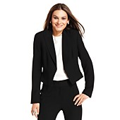 Nine West Cropped Tuxedo Blazer