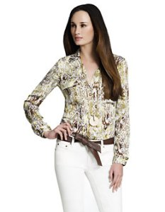 Jones Snake Print Blouse