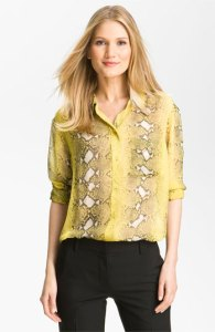 Equipment Snakeskin Blouse