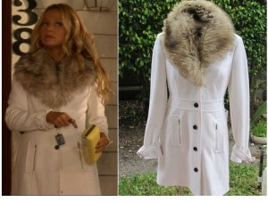 BEBE Jacket with Fur Collar
