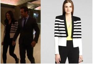 BCBGMaxAzria Guy Stripe Tuxedo Jacket