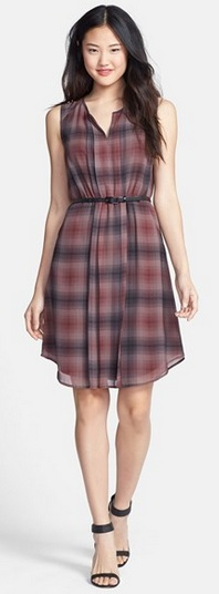 halogen plaid dress