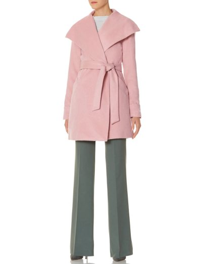drape collar wrap coat