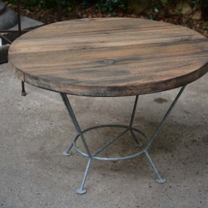 Aged Wood Top for Galvanized Stands