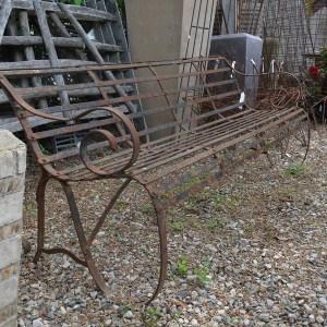 Antique French Cast Iron Park Bench