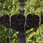 Antique French Cast Iron Triple-tier Fountain Detail 3