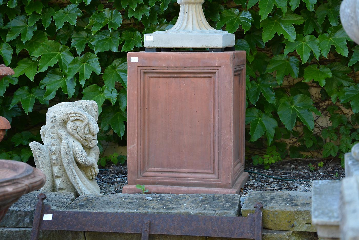 English Concrete Pedestal Large