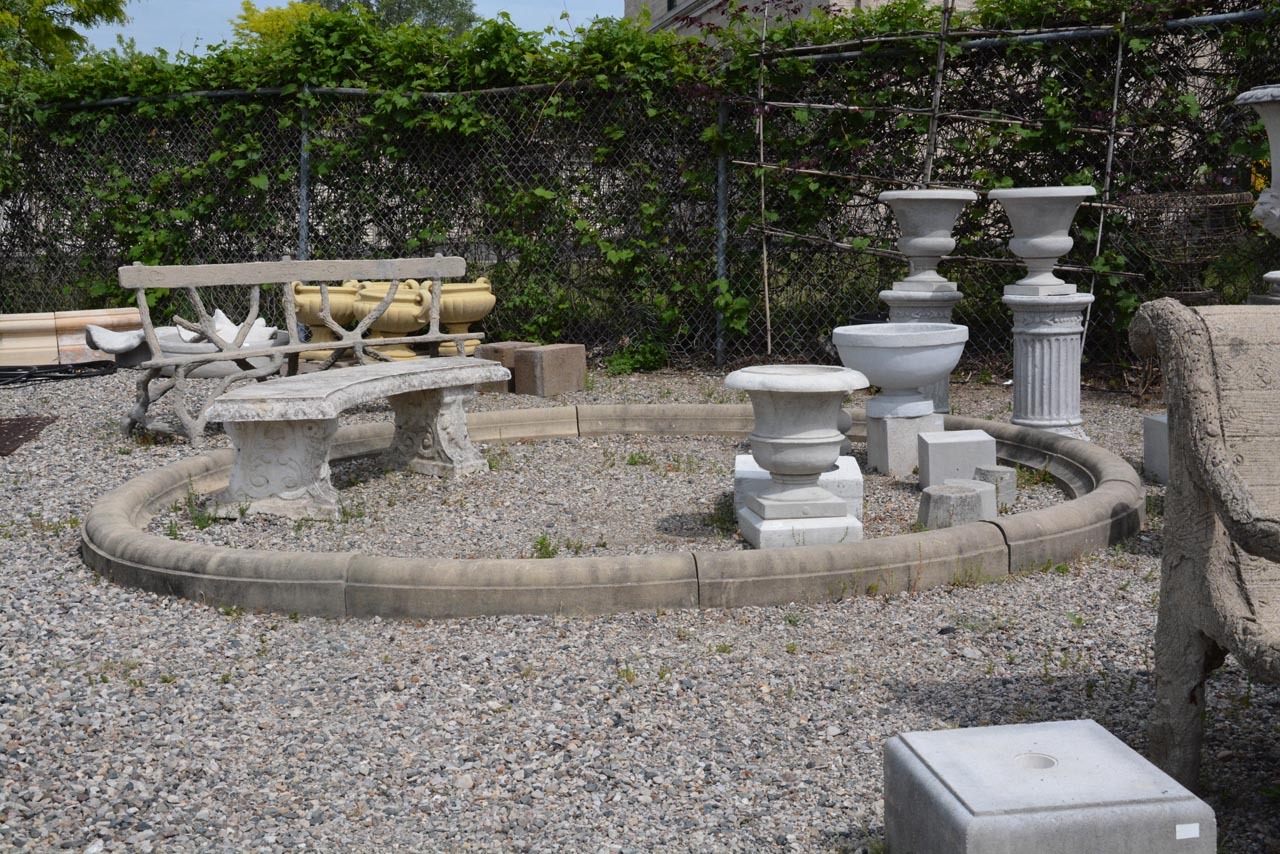 english david sharp modern limestone fountain surround