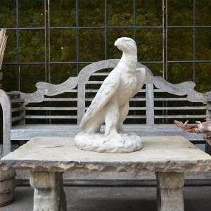 Stately English Antique Cast Stone Wellington Eagle Main