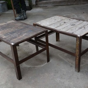 Wood & Metal Industrial Tables 2