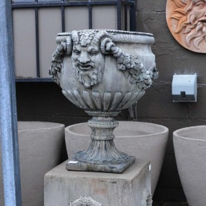 English Made Concrete Horn of Plenty Urn Grey2