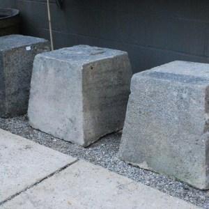 vintage stone pedestals