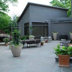 contemporary garden terrace