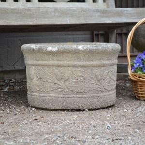 Stone Acorn Planter