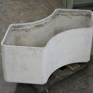 Concrete Unusual Shape Container Three quarter