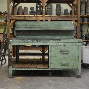 Vintage Green Work Desk