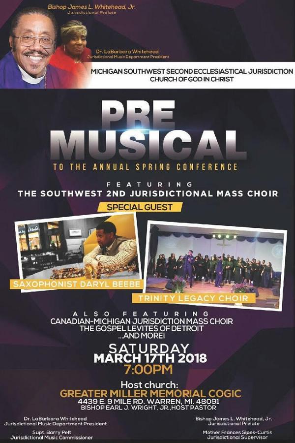 MAR 17: Pre-Musical to Annual Spring Conference – DetroitGospel com