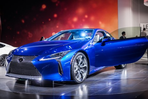 Lexus LC500h is a hybrid sports car