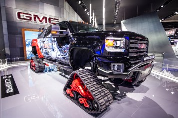 GMC showed off the Tundra, geared up for tackling the Tundra.