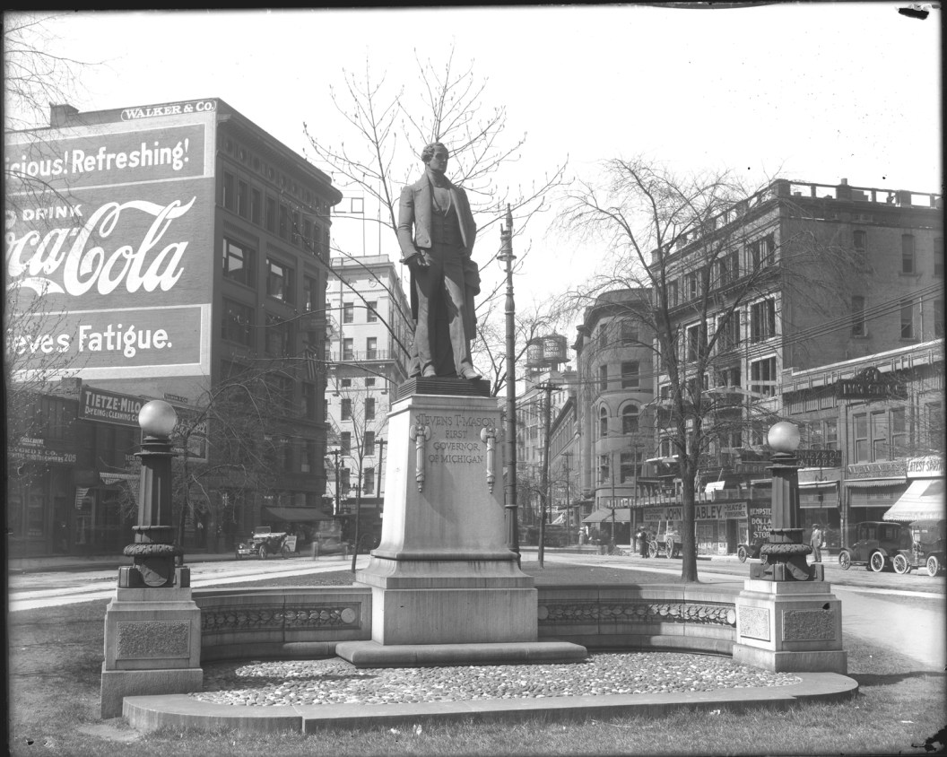 Stevens T Mason statue. Courtesy Detroit Public Library Collection
