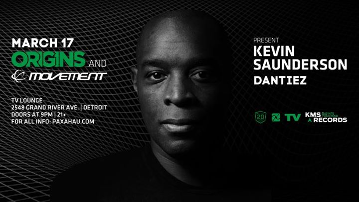 Kevin Saunderson Movement Pre-Party March 17 at TV Lounge 6