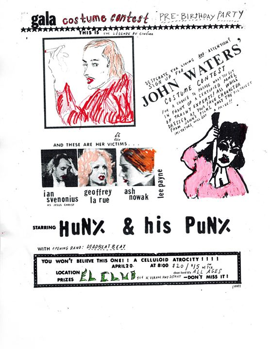 A John Waters pre party with Hunx And His Punx & costume contest at El Club 6