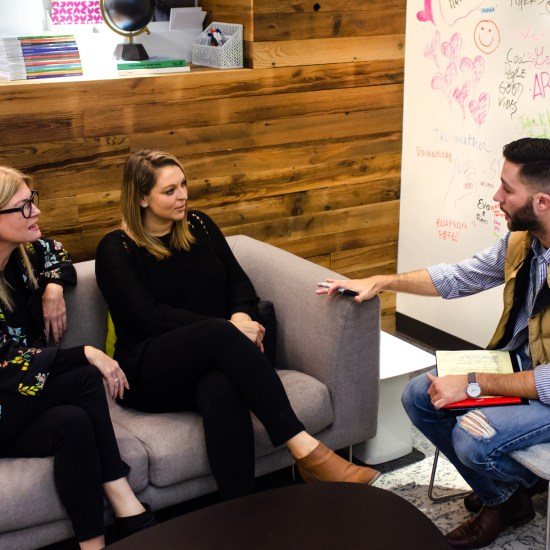 DCTC'S CHRISTOPHER STEFANI INTERVIEWS MEREDITH VYN AND ERICA KIMBER. PHOTO JC