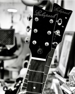 Guitars a la Gabriel Currie. Photo Peter Shin