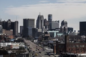 HELPING THOSE MOST VULNERABLE. DOWNTOWN DETROIT. PHOTO AMI NICOLE / ACRONYM