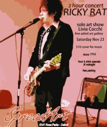 RICKY RAT CONCERT / SOLO ART SHOW