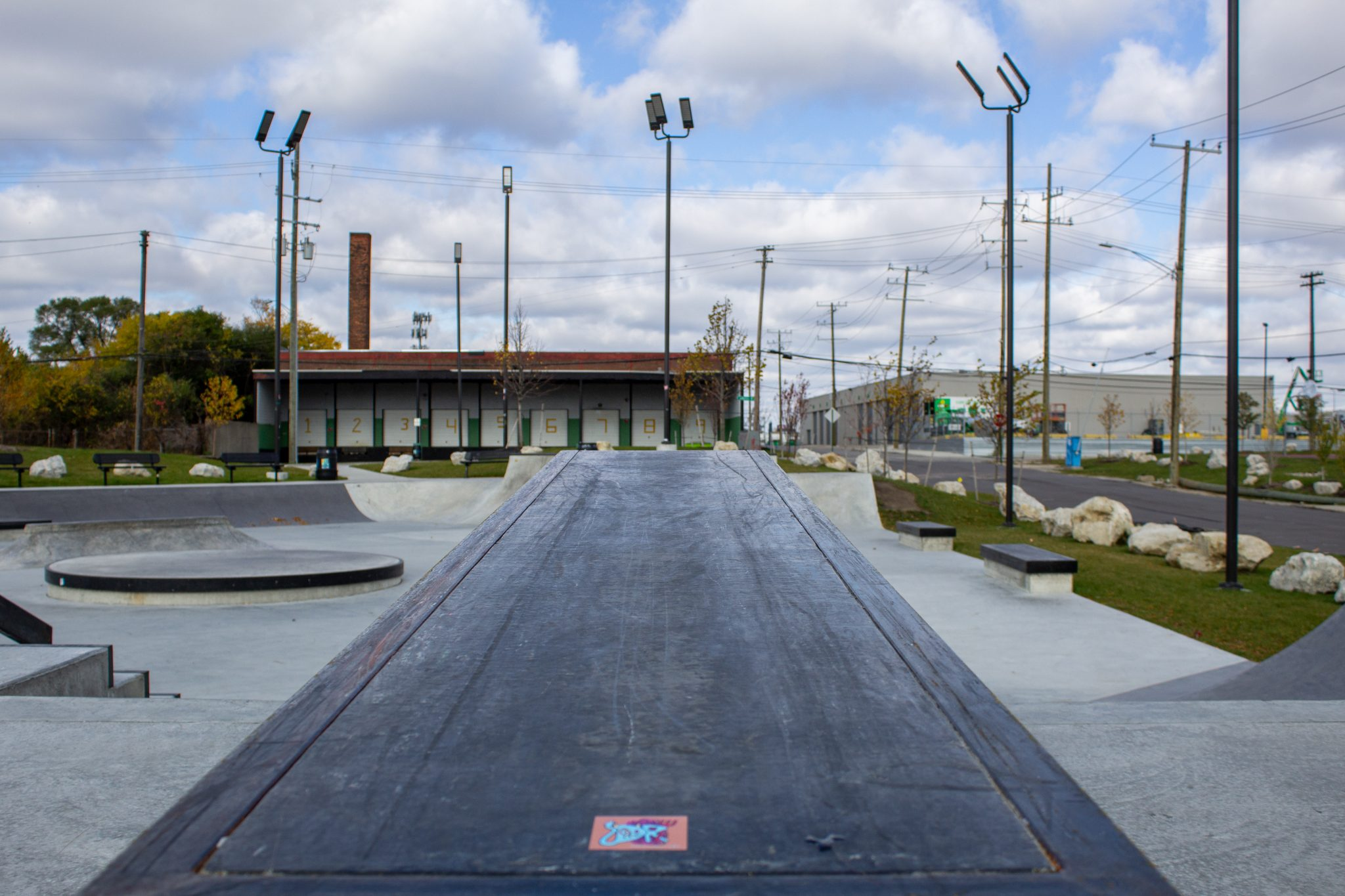 THE WIG A VIEW OF THE RIVERSIDE SKATEPARK THAT WAS DESIGNED BY COMMUNITY PUSH. PHOTO JOHN BOZICK
