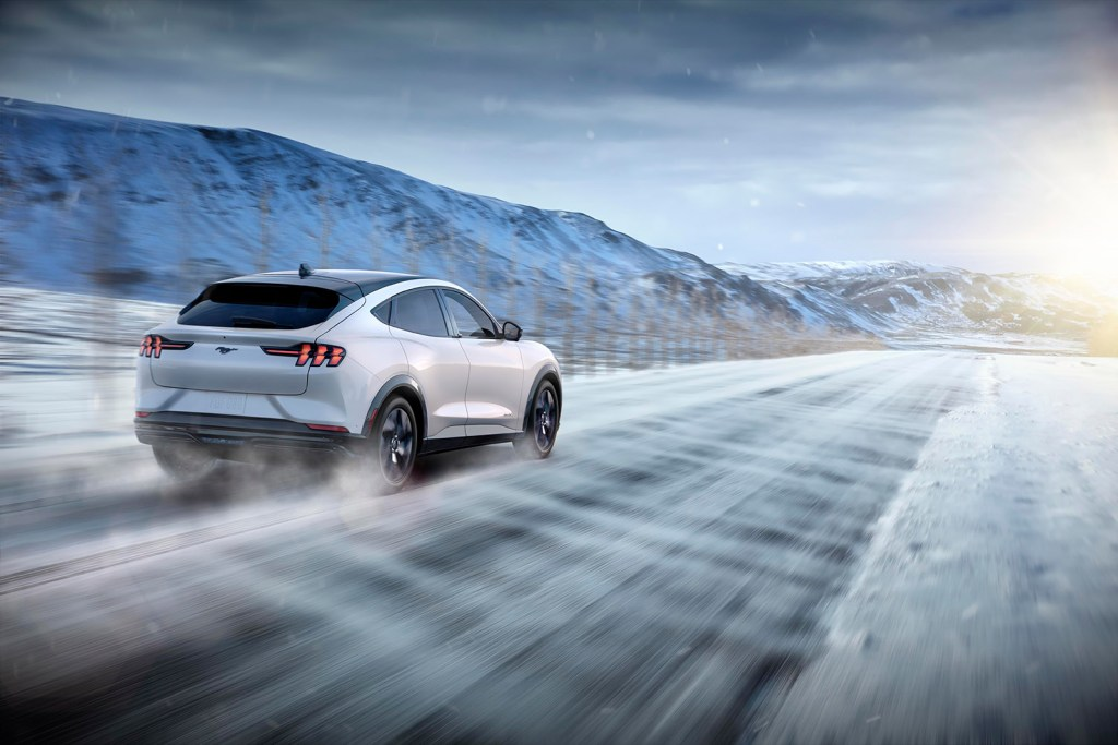 MACH-E DASHING THROUGH THE SNOW PHOTO COURTESY OF FORD