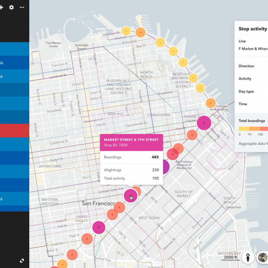 REMIX RIDERSHIP MASS TRANSIT MAP OF SAN FRANCISCO