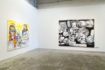 EDDIE MARTINEZ MOCAD INSTALLATION VIEW LEFT TO RIGHT: FORMAL, 2018-2019, UNTITLED, 2019. PHOTO TIM JOHNSON
