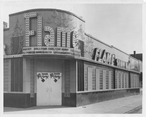 THE FLAME SHOW BAR. PHOTO COURTESY OF THE BURTON HISTORICAL COLLECTION, DETROIT PUBLIC LIBRARY