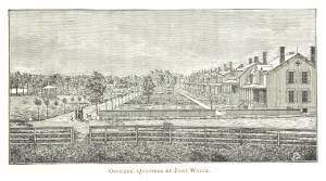 AN 1884 DRAWING OF FORT WAYNE.
