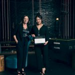 DIVERSITY IN THE D SCHOLARSHIP RECIPIENT, SARAH HUA, CCS STUDENT AND JENN KERASIOTIS, SVP, GROUP CREATIVE DIRECTOR AT LEO BURNETT, 2019-2020 SPONSOR. PHOTO FROM ADCRAFT