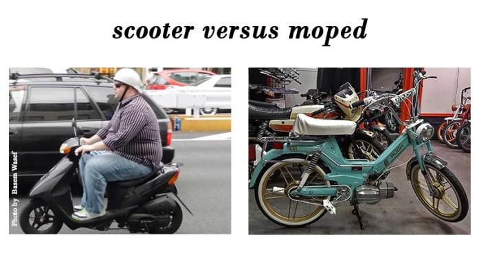 Scooter Versus Moped