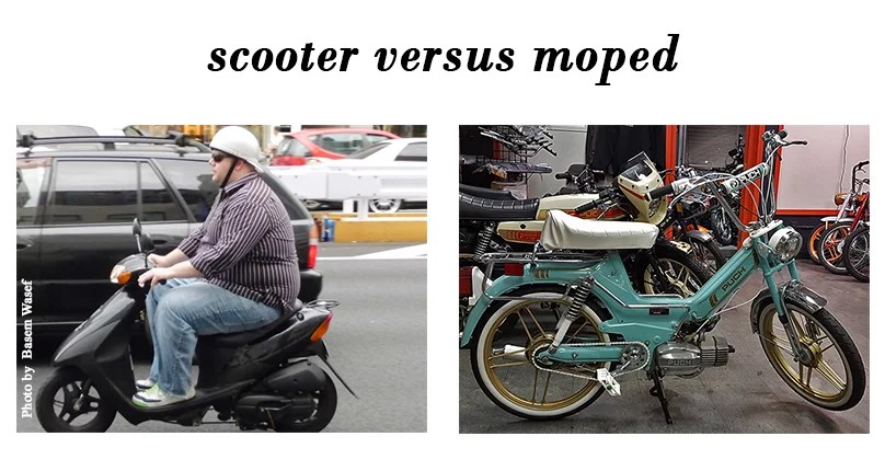 Scooter Versus Moped