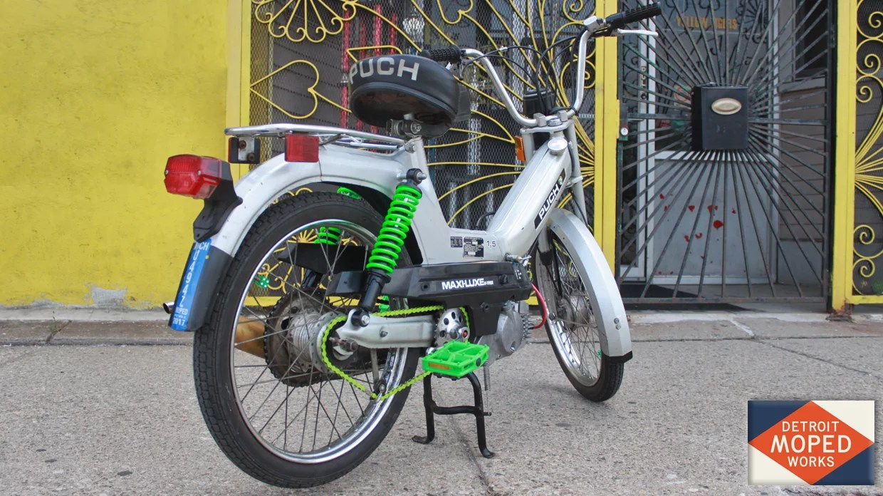 1978 Puch Maxi Luxe Green Auto Electrical Wiring Diagram 78 Motobecane Silver With Cool Accents Sold