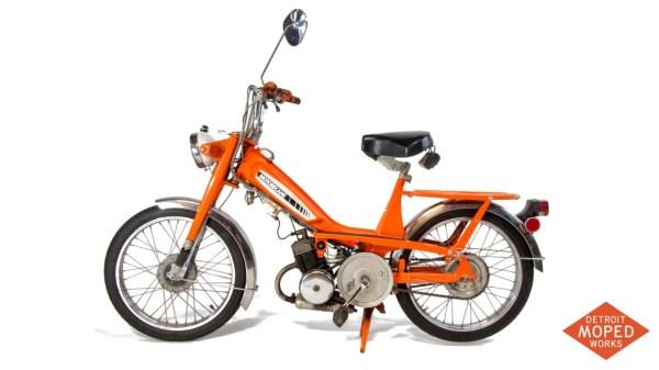 1977 Orange Motobecane Moby 50TL US model Detroit Moped Works 1