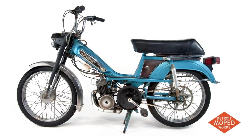 1978 blue silver motobecane