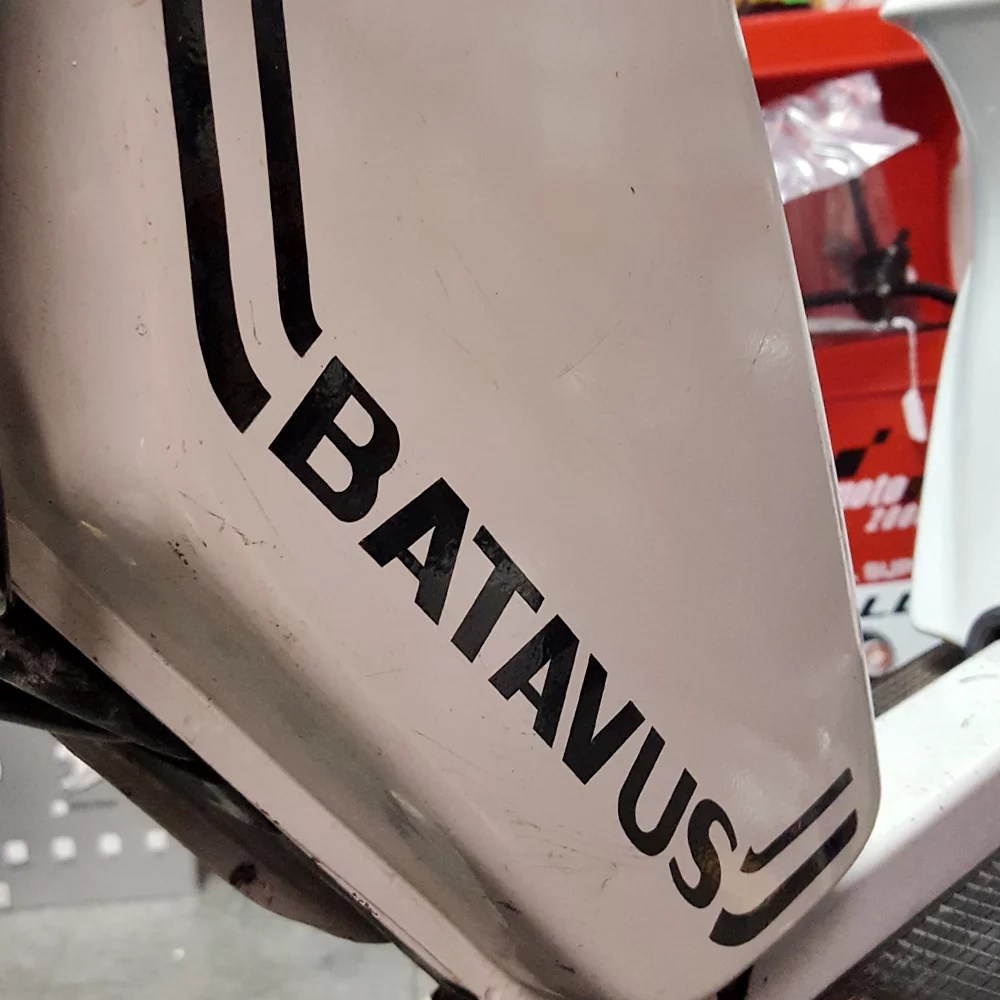 Batavus Starflite moped tank reproduction decal set