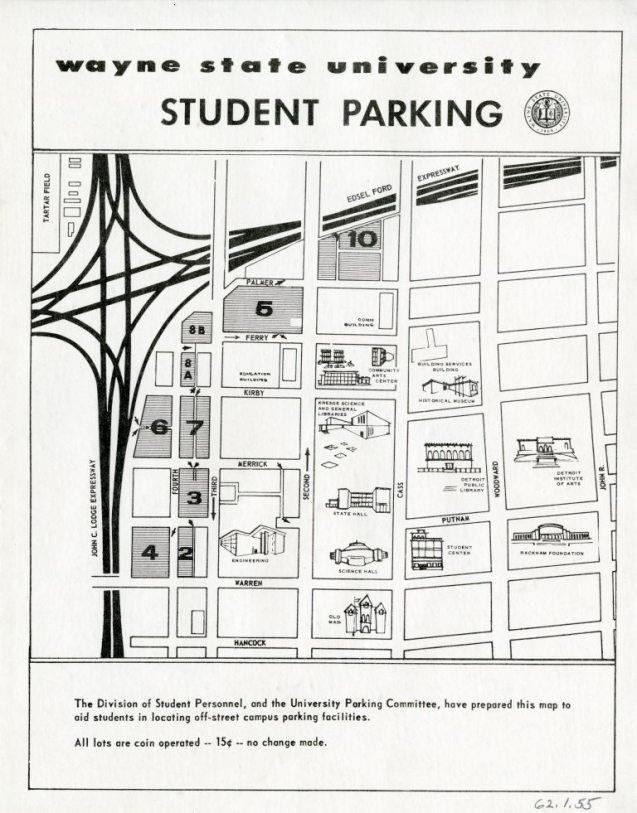 Wayne State University Campus Map : wayne, state, university, campus, Wayne, State, University, Campus, World, Atlas