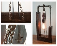 Detroit ReMade | Pipe and Pulley Lamp