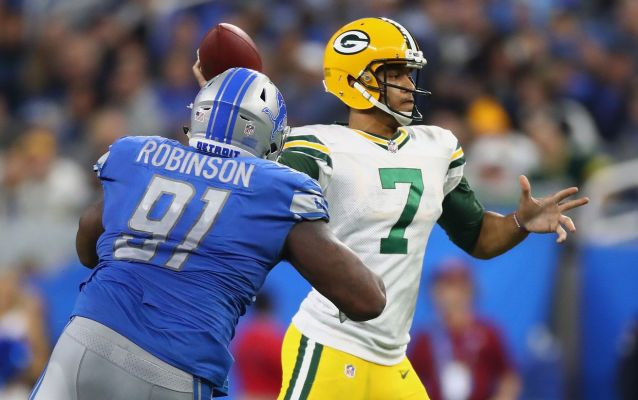 Notes: A'Shawn Robinson is the highest-graded Lions player*