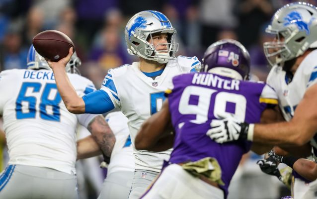 Matthew Stafford sacked 10 times in embarrassing 24-9 loss to Vikings