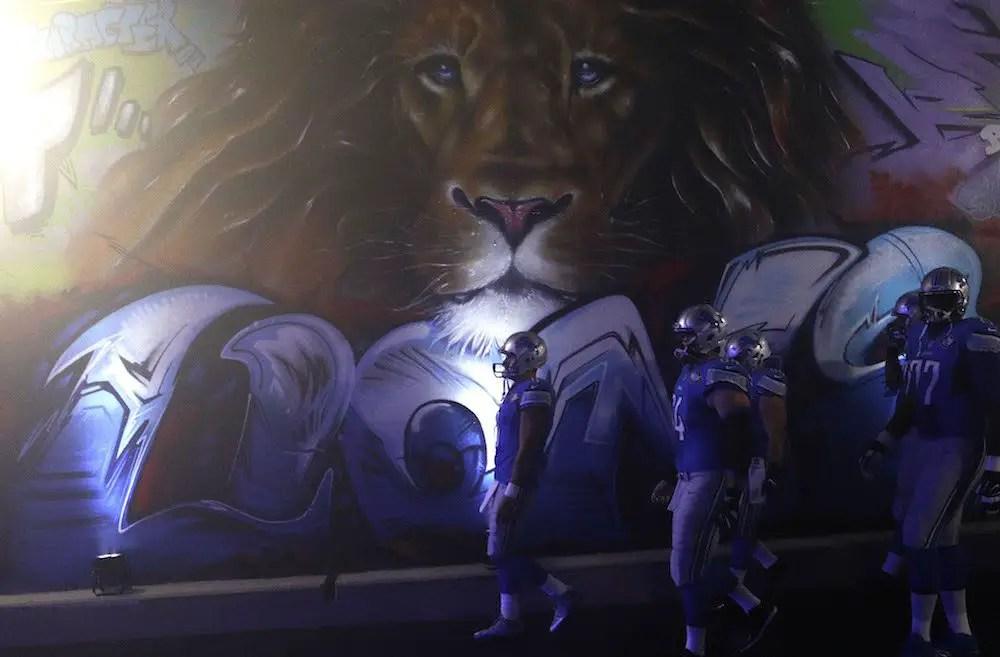 Celebrity detroit lions fans walk