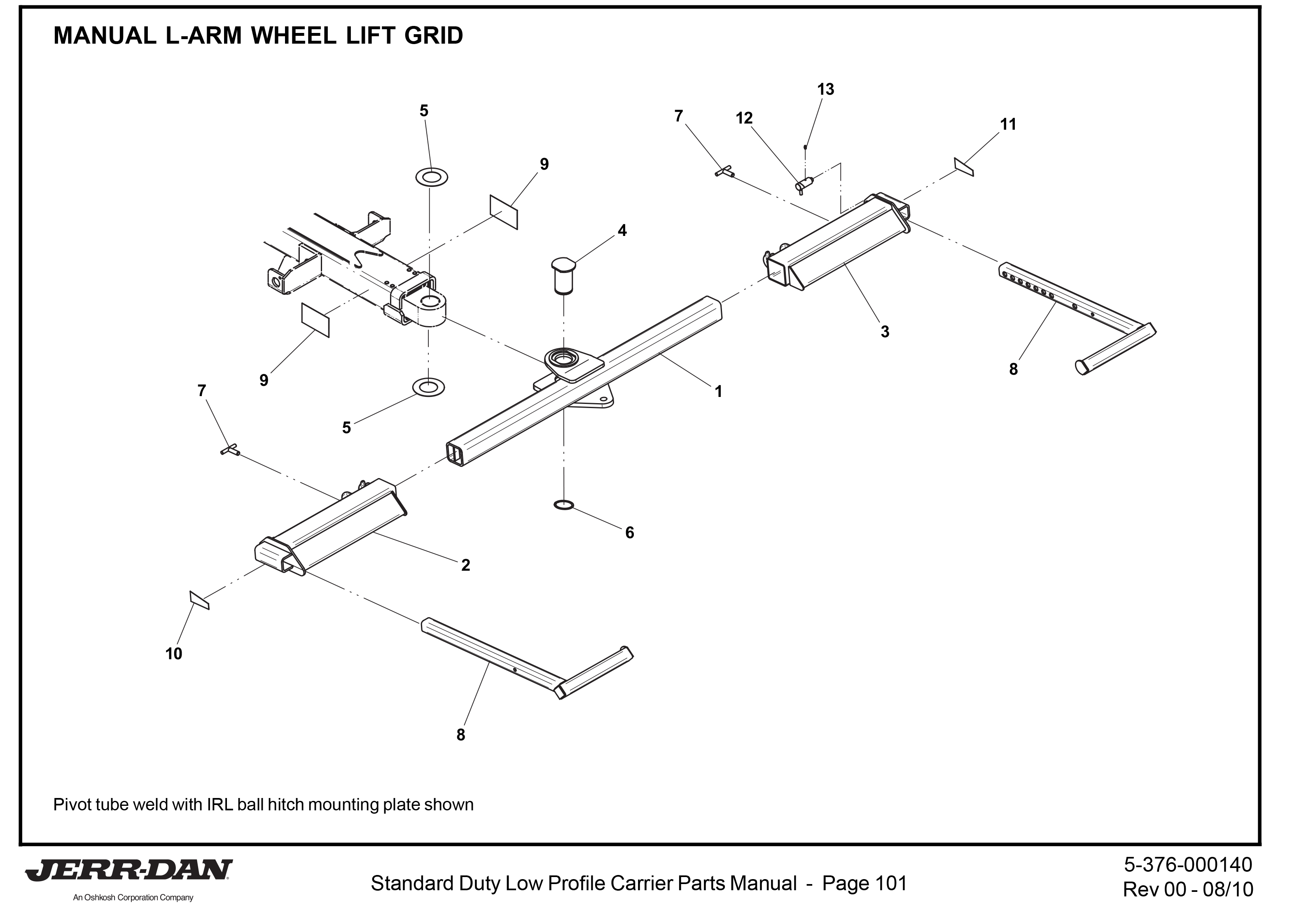 Jerr Dan Wheel Lift Parts Diagrams Jerr-Dan Carrier Parts